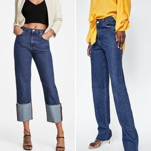 Zara Fold Up Malibu Straight Leg Jeans (2)